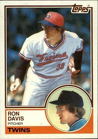 Amazoncom 1983 Topps Baseball Card 380 Ron Davis Near Mintmint