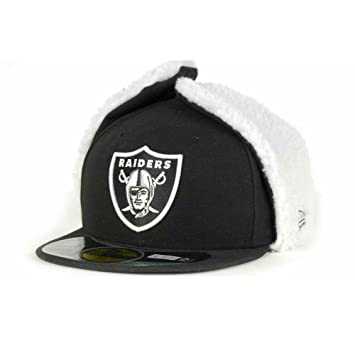 9a3eed1999e 59FIFTY Oakland Raiders NFL  5950  Dog Ear Fitted Cap 7 1 2  Amazon ...