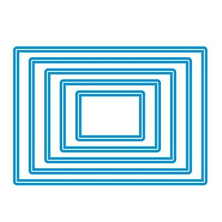 Sweet Dixie Troquel Ovalado Juego de Troqueles, Gris, Metal, Gris, 23.3 x 14.7 x 1 cm: Amazon.es: Hogar