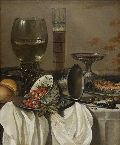 [Oil Painting 'Pieter Claesz- Still Life With Drinking Vessels, 1649' 8 x 10 inch / 20 x 24 cm , on High Definition HD canvas prints is for Gifts And Hallway, Home Office And Kitchen decor,] (God Of War 3 Costumes Hack)