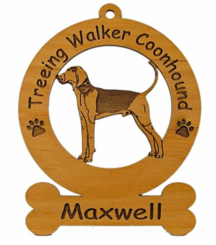 4187 Treeing Walker Coonhound Ornament Personalized with Your Dog's Name