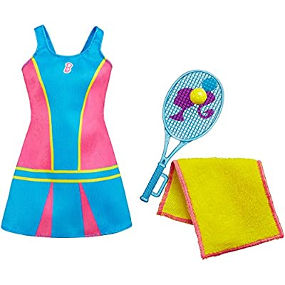 Barbie Fashions - Tennis Time Barbie Doll Outfit With Tennis Racket: Toys & Games