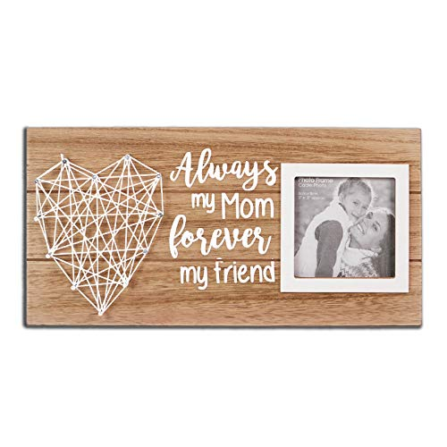 VILIGHT Mom and Daughter Picture Frame - Gifts for Mother's Day and Birthday - Always My MOM Forever My Friend Wooden Wall Decor