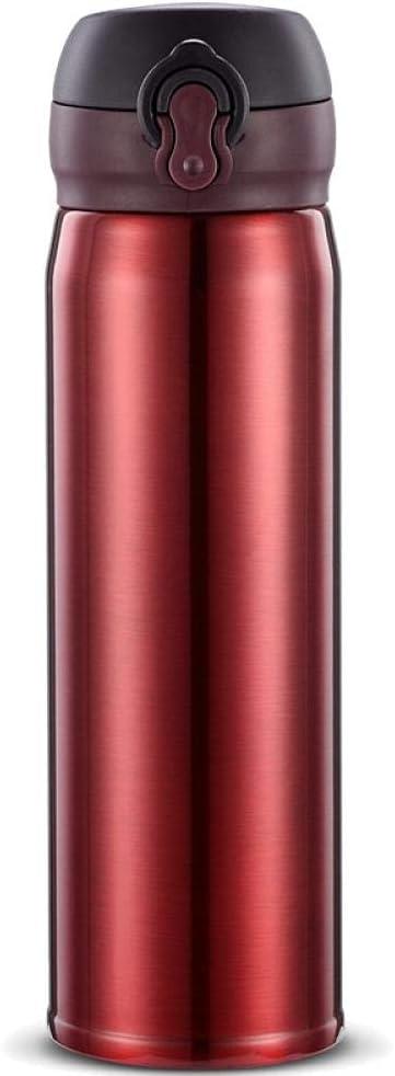 agua acero inoxidable botella termica Termo creativo minimalista moderno taza 500ml-rosa taza que despide