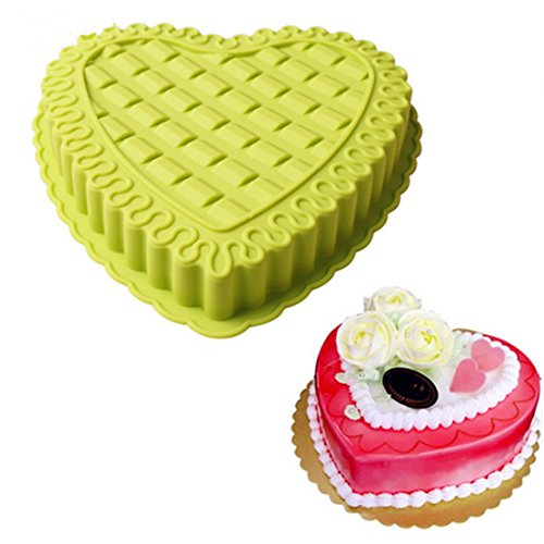 FantasyDay 10'' Love Heart Cake Mold Silicone Cake Mold Baking Pan for Anniversary Birthday Cake, Tart, Loaf, Muffin, Brownie, Cheesecake, Pie, Flan, Bread and More #5