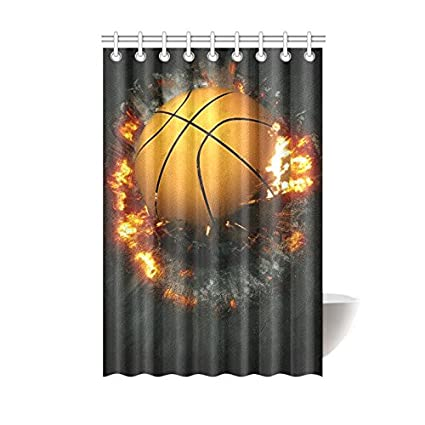 Amazon InterestPrint Shower Curtain Street Basketball Sport