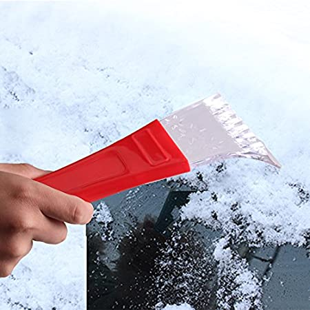 Yellow JUNGEN Ice Scraper Plastic Car Windshield Scraper Snow Cleaning Brush Snow Shovel Icebreaker for Car Window Snow Scraper