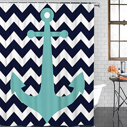 A Fantastic Anchor Chevron Shower Curtain!