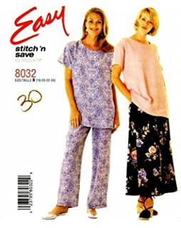135c6f39fb9b9 McCall s 8032 Sewing Pattern Misses Full Figure Top Skirt Pants Size 18 - 24