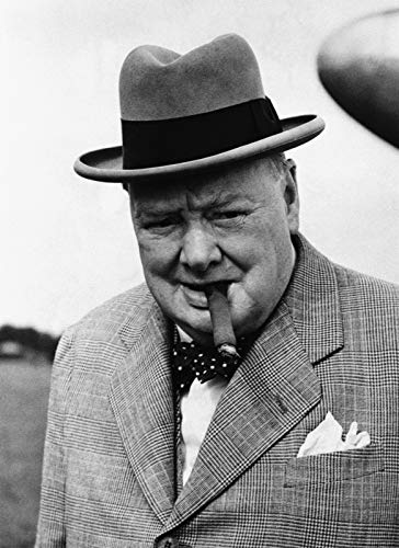 Winston Churchill Wwii 8 x 10 Metal Aluminum Tin Gloss Sign