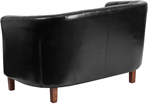 Reviewed: Flash Furniture HERCULES Colindale Series Black LeatherSoft Tufted Loveseat
