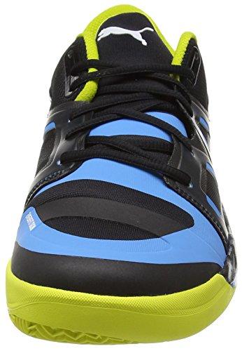 Puma evoIMPACT 1 - Zapatillas deportivas para interior de material sintético hombre negro - Schwarz (black-white-sulphur spring-cloisonné 02)