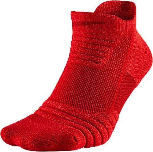 Nike Elite Versatility Low Adult Basketball Athletic Training Socks (L 8-12, 657 University Red/Gym Red)