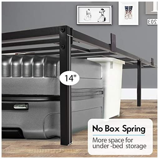 JAXPETY-14-Inch-Full-Size-Bed-Frame-Platform-Metal-Heavy-Duty-Mattress-Foundation-Box-Spring-Replacement-wSteel-Base-and-Under-Bed-Storage-Bedroom-Black