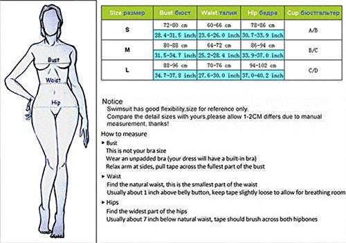 KUWOMINI.Solid Color De Bikini Poste De Acero Reunir La Mujer Traje De Baño Europa Y Estados Unidos Trajes De Baño De Aguas Termales Black