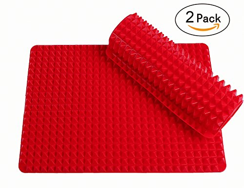 2 Ct Silicone Baking Mat Cooking Sheets Non-stick Fat-reducing 16