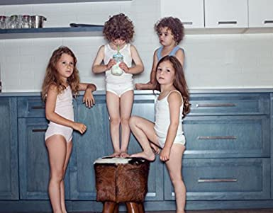 Brix Girls Solid White Tagless Cami Super Soft Undershirts 4//Pack Kids Tank Tops.