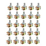 uxcell WH148 20K Ohm Variable Resistors Dual Turn Rotary Carbon Film Taper Potentiometer 25pcs