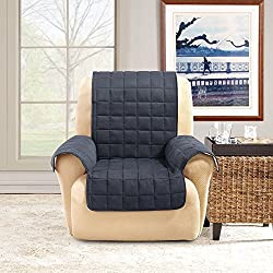 Sure Fit Ultimate Waterproof Quilted Throw - Chair Slipcover - Taupe