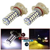 CCIYU Set of 2pcs White 68-SMD 5202 H16 LED Replacement Bulbs For Fog Lights or Daytime Running Lamps