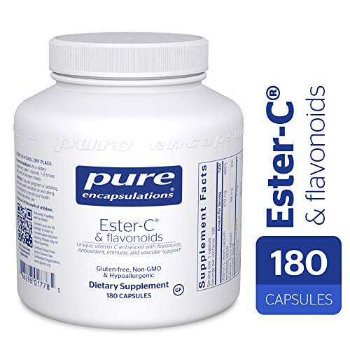 (Pure Encapsulations - Ester-C & Flavonoids - Hypoallergenic Vitamin C Supplement Enhanced with Bioflavonoids - 180 Capsules)