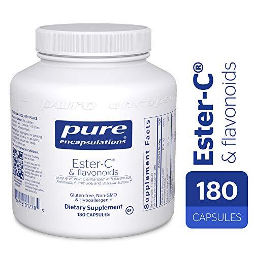 Pure Encapsulations - Ester-C & Flavonoids - Hypoallergenic Vitamin C Supplement Enhanced with Bioflavonoids - 180 ()