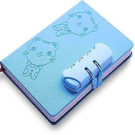 Lvcky - Cuaderno de Notas con contraseña de Bloqueo para Gatos, 1 Unidad, Libro