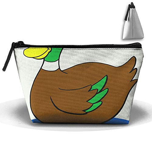 RobotDayUpUP Duckling Clipart Mallard Duck Womens Travel Cosmetic Bag Portable Toiletry Brush Storage Durable Pen Pencil Bags Accessories Sewing Kit Pouch Makeup Carry Case