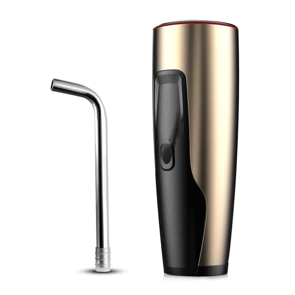 HUShjsd Drinking Water Pump, USB Charging Portable Kitchen Automatic Water Pump, Household Electric Bottled Water Pump (Color : Gold)