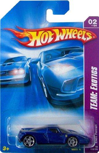 Hot Wheels 2006-114 Team Exotics Enzo Ferrari BLUE 1:64 Scale