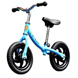 Tmaxch Balance Bike for Kids and Toddlers, 12'' Training Bike Without Pedal for Ages 2 to 5 Years Boys and Girls(Blue)