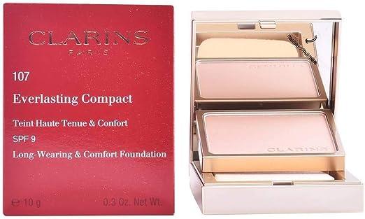 Clarins Everlasting Compact Teint Haute Tenue&Confort Spf9#107-Beige 1 Unidad 1400 g: Amazon.es: Belleza