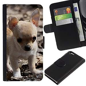 Stuss Case / Funda Carcasa PU de Cuero - Chihuahua Puppy Small Baby Pet Dog - Apple Iphone 6