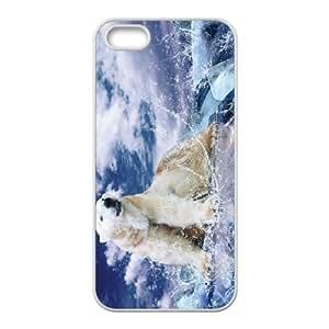 Iphone 5,5S Polar bear Phone Back Case Customized Art Print Design Hard Shell Protection HG071917