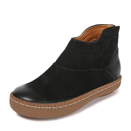 46042881943c3 Amazon.com: Hy Women's Casual Shoes,Fall/Winter Mill Sand Retro ...
