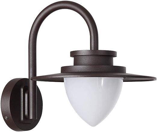 JYXGFSQ Aplique de Pared Exterior Iluminación de Entrada Aplique de terraza Lámpara de Pared Exterior Marrón Aluminio y Vidrio Lámpara de Exterior Resistente al Agua Baño Cabaña Diseño Balcón Jardín: Amazon.es: Hogar