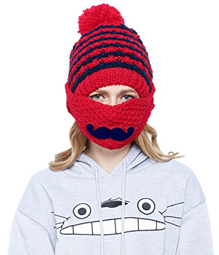 [Fashion Women Girl Warm Knit Crochet Beanie Hat Outdoor Mask Cap] (Sexy Cosplay Ideas)