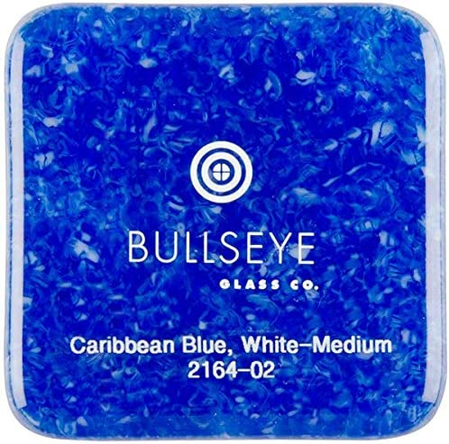 Made from Bullseye Glass 8oz 90COE Caribbean Blue Transparent /& White Opalescent 2-Color Mix Medium Frit