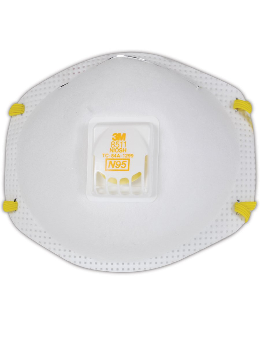 3M 50051138543438 Particulate Respirator 8511, N95 (Pack of 10) by 3M Respiratory Protection