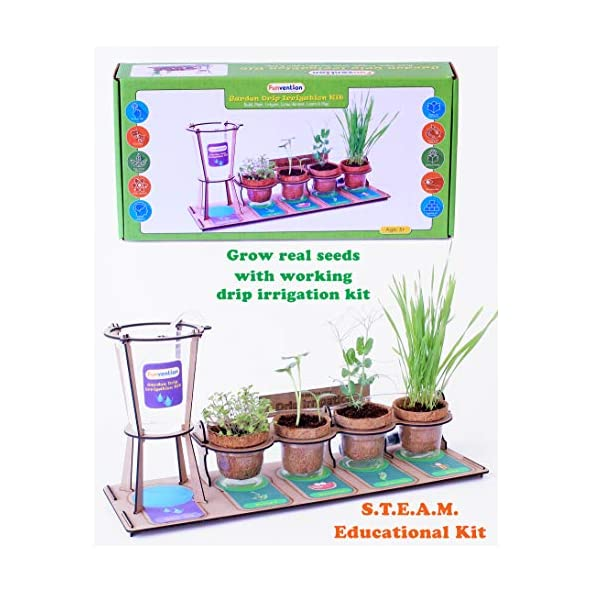 Funvention Garden Drip Irrigation Kit DIY Science Educational Toy, STEM Learning Kit, Birthday Gifts