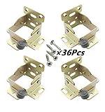 ASIBT 4 Pcs - Lock Extension Table Bed Leg Feet Steel Folding Foldable Support Bracket Screw A