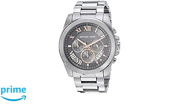 472782f7991c Amazon.com  Michael Kors Men s Brecken Analog-Quartz Watch with Stainless- Steel Strap