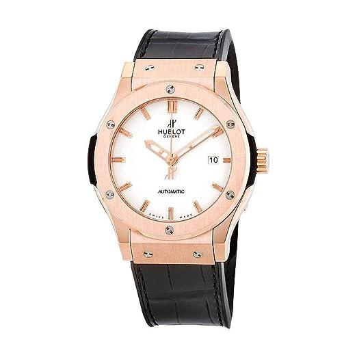 Hublot clásico fusión blanco Dial negro cuero automático Mens Reloj 542ox2610lr: Amazon.es: Relojes