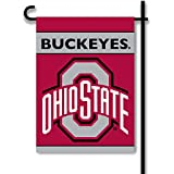 NCAA Ohio State Buckeyes 2-Sided Garden Flag, One Size, Red