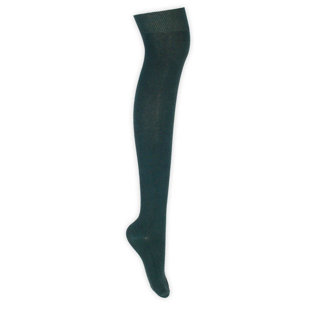 1 or 3 Pairs of Ladies Plain Over The Knee High Long Socks 23 Bright Colour UK Size 4-6.5