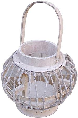 Lanterne photophore en rotin D 14,5 x H16 cm Atmosphera
