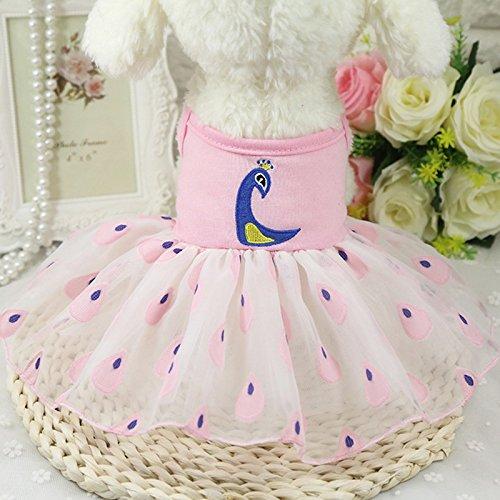 Dog Pet Cat Tutu Elegant Pattern Dress Multi Layers Lace Skirt Puppy Princess Summer Clothes
