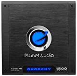 Planet Audio AC1500.1M Car Amplifier – 1500 Watts Max Power, 2/4 Ohm Stable, Class A/B, Monoblock, MOSFET Power Supply, Remote Subwoofer Control