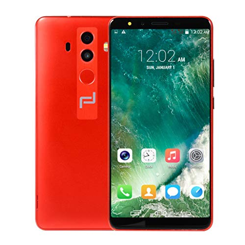 certainPL 5.7 inch Dual SIM Smartphone GSM/WCDMA, Android 6.0 Dual-Core 512MB RAM+4GB ROM Touch Screen WIFI 3G Call Mobile Phone, Support T-Mobile, AT&T, NEXTEL and Cincinnati Bell (Red)