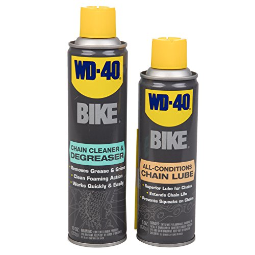 WD-40 All Conditions Bike Chain Lube and Chain Cleaner/Degreaser